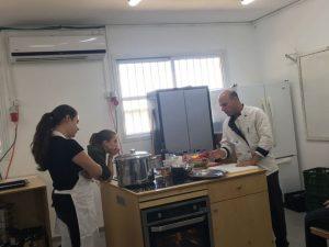 מדעי התזונה כיתה יוד, שיעור ראשון במטבח החדש